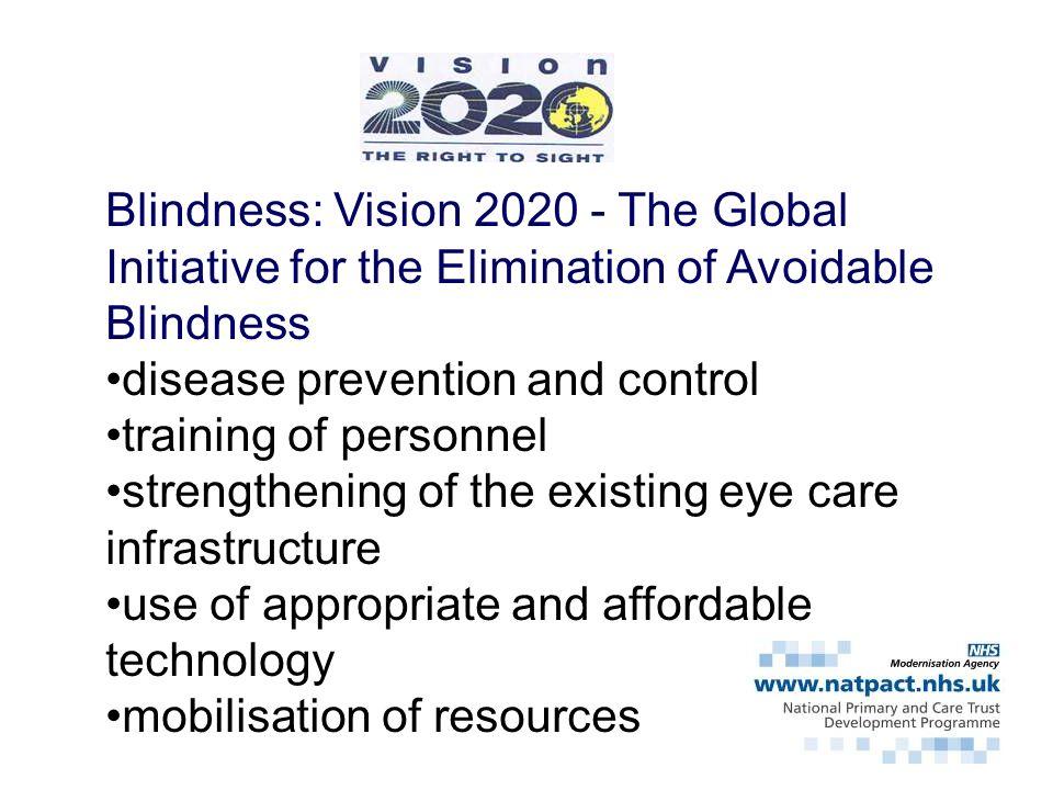 Blindness: Vision 2020 - The Global