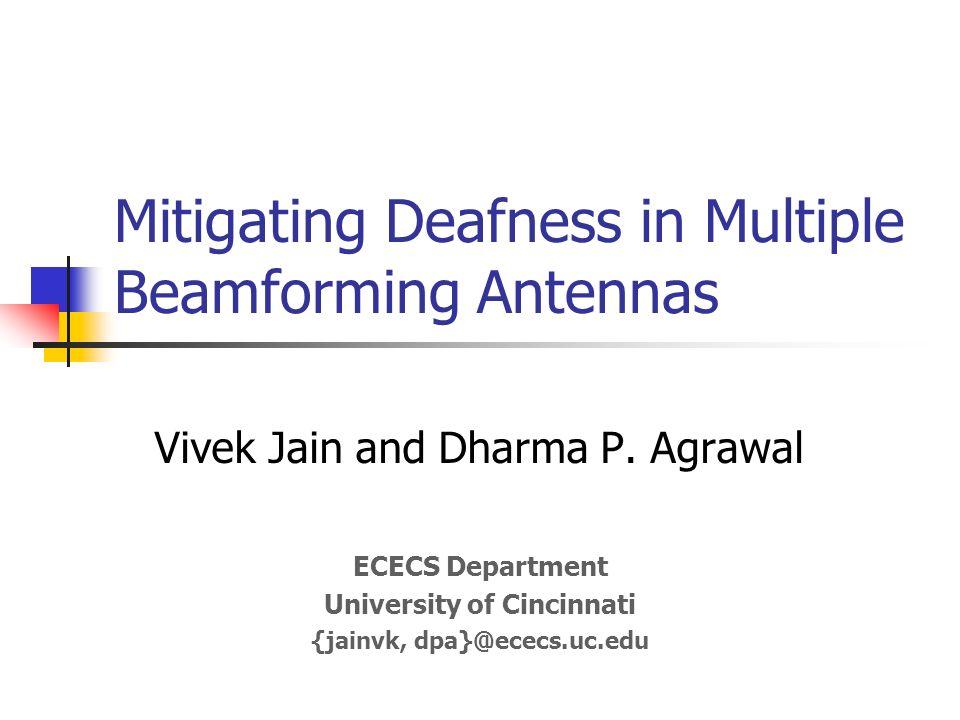 Mitigating Deafness in Multiple Beamforming Antennas