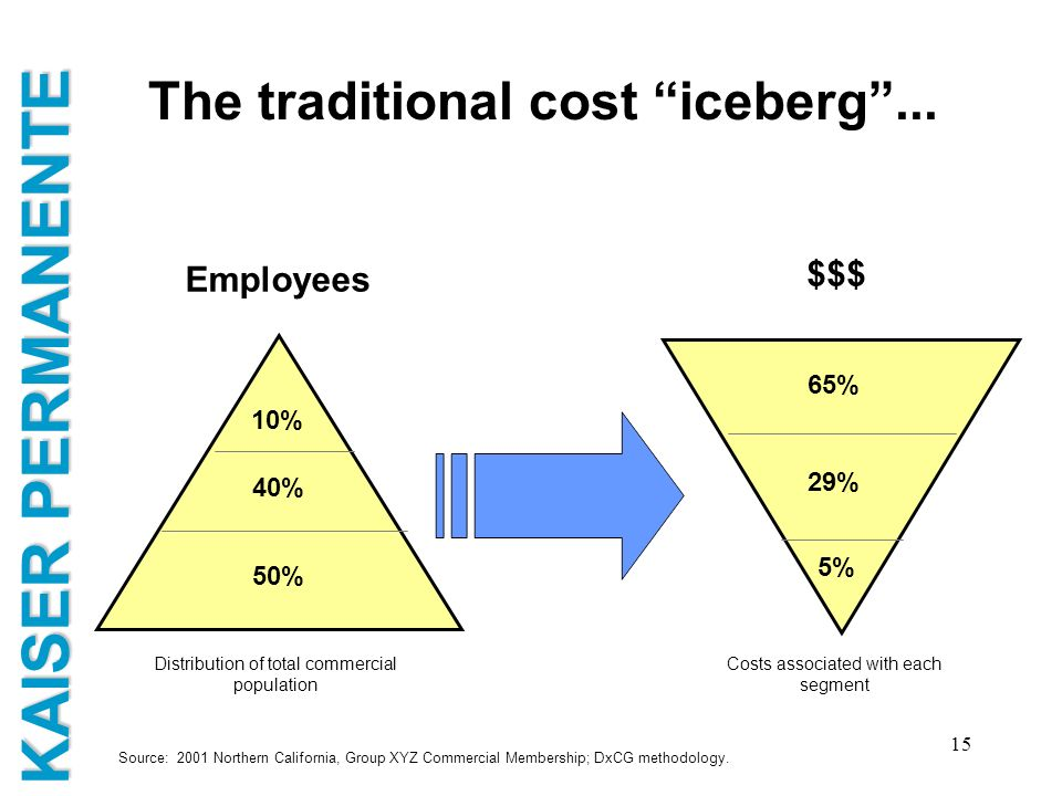 The traditional cost iceberg ...