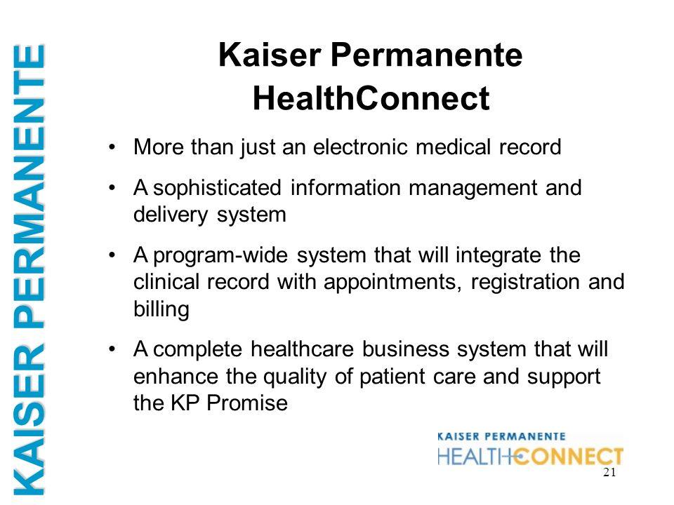 Kaiser Permanente HealthConnect