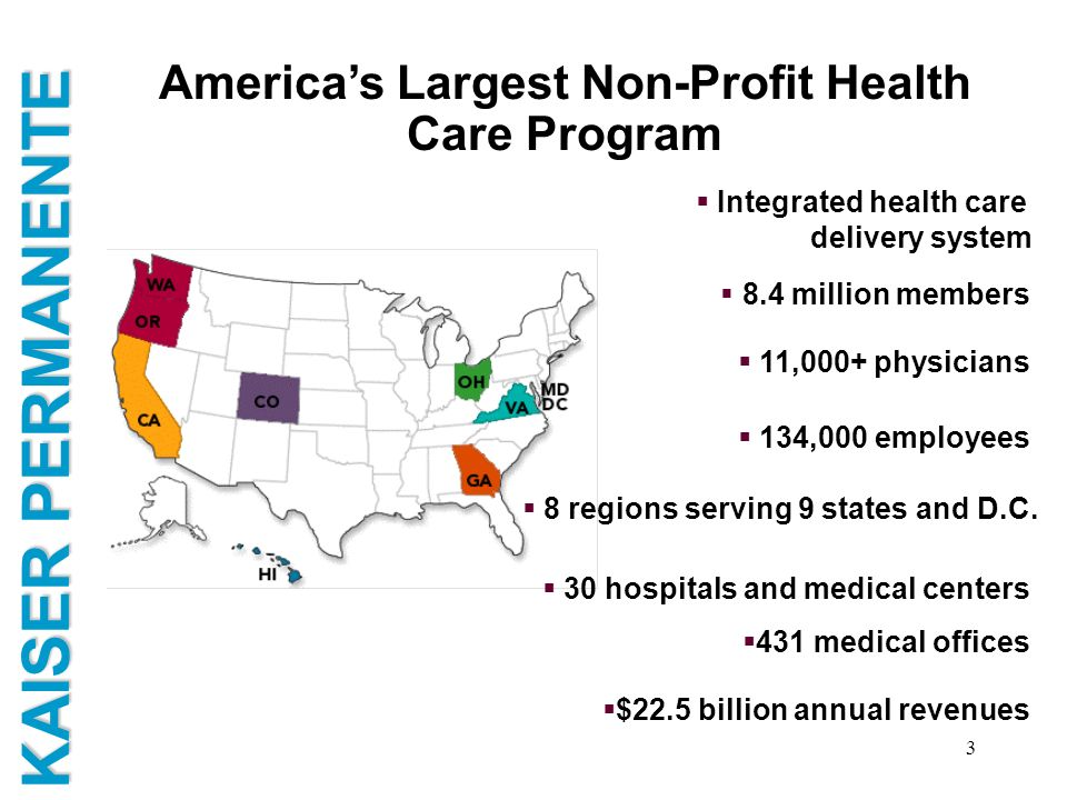 America's Largest Non-Profit Health Care Program
