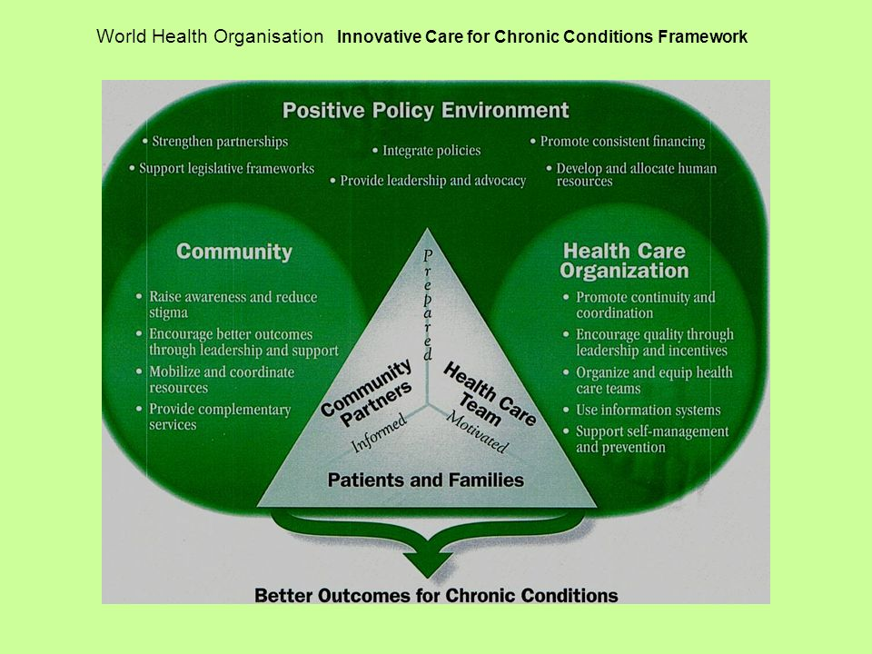 World Health Organisation Innovative Care for Chronic Conditions Framework