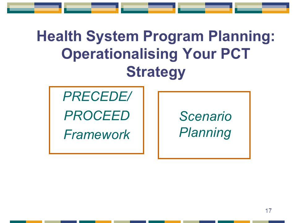 Health System Program Planning: Operationalising Your PCT Strategy