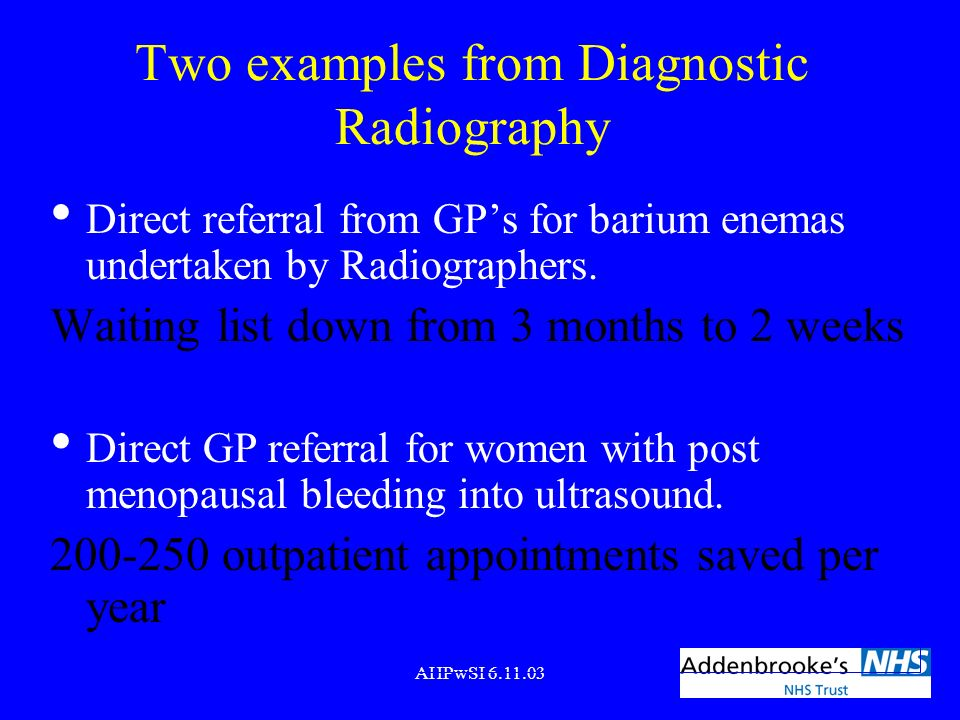 Two examples from Diagnostic Radiography
