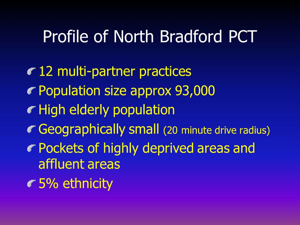 Profile of North Bradford PCT