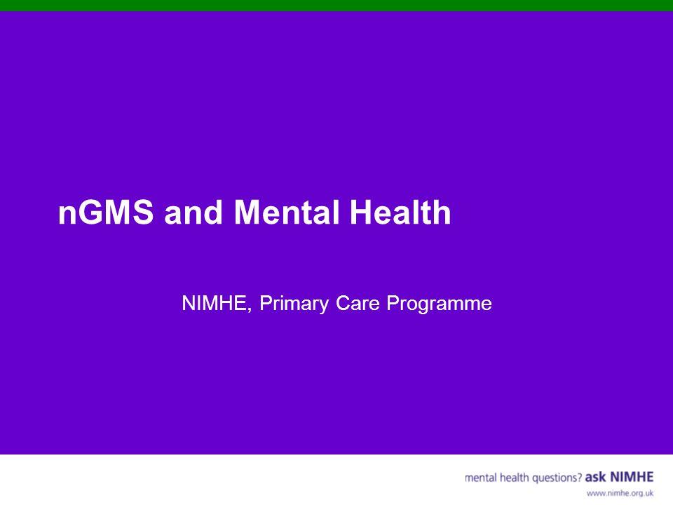 NIMHE, Primary Care Programme
