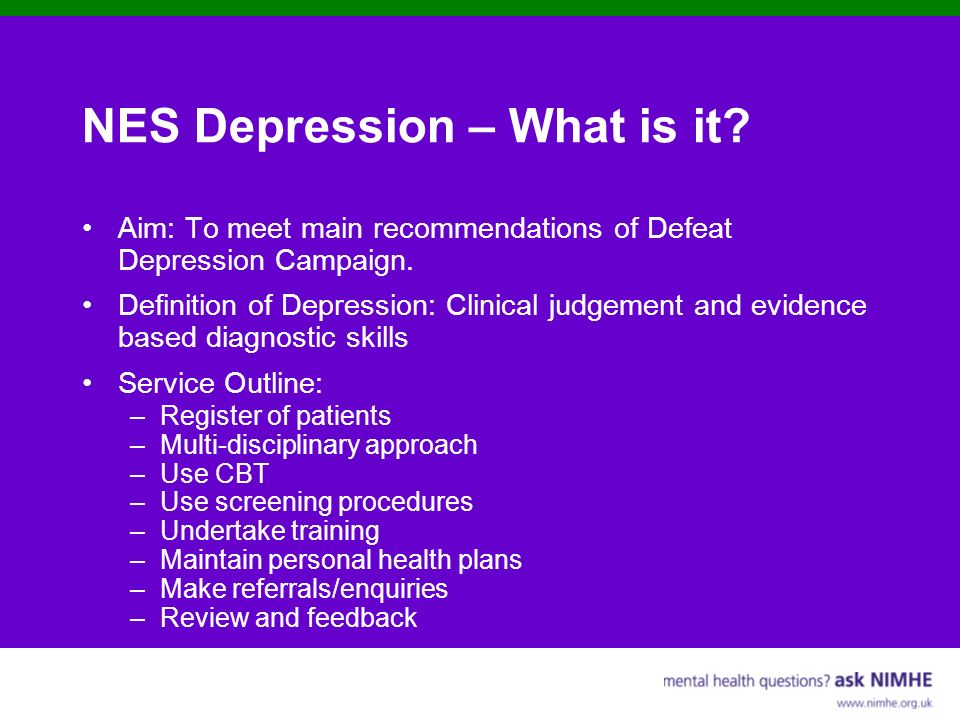 NES Depression – What is it