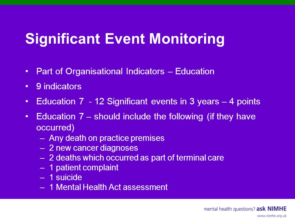 Significant Event Monitoring