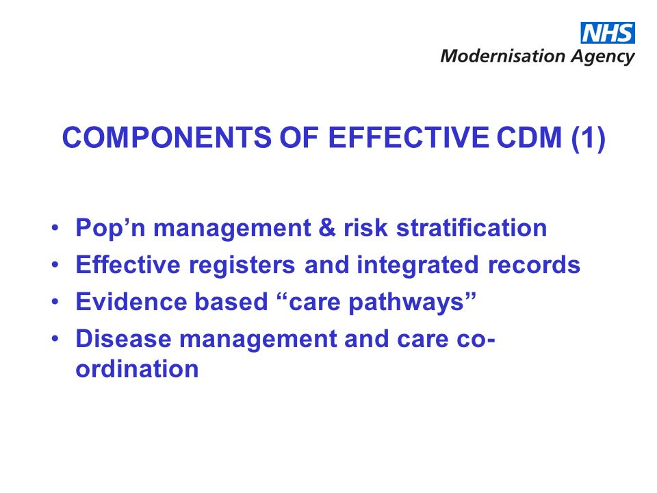 COMPONENTS OF EFFECTIVE CDM (1)