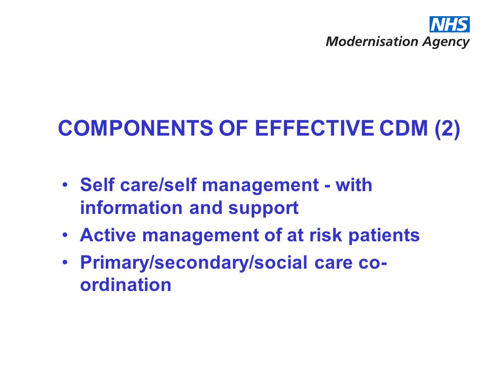 COMPONENTS OF EFFECTIVE CDM (2)