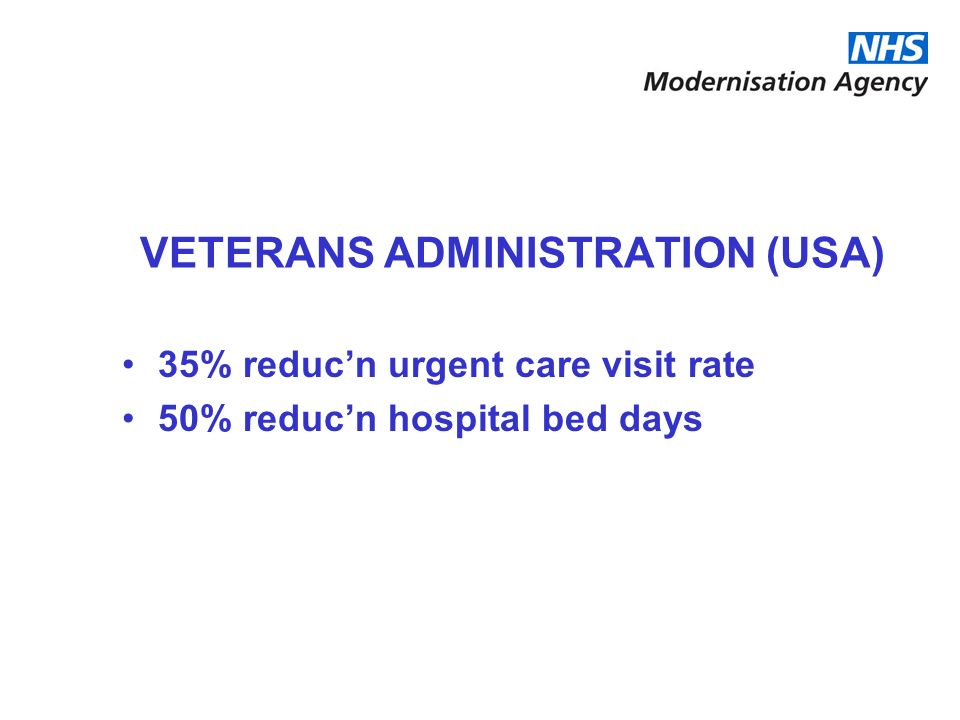 VETERANS ADMINISTRATION (USA)