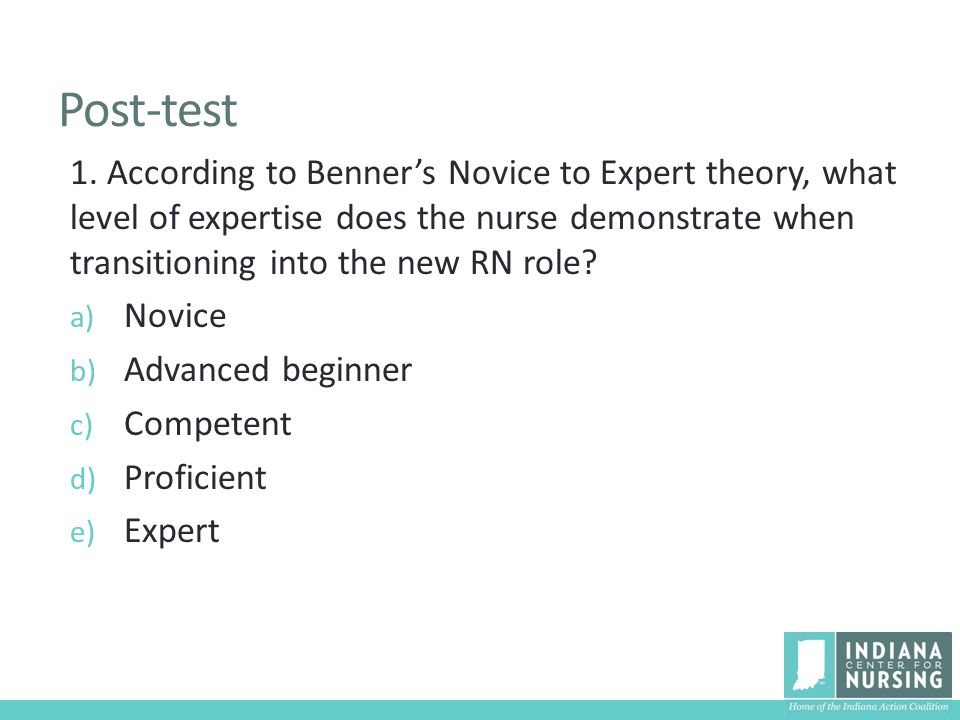 """levels of critical thinking according to benner According to leininger,  benner describes five levels of nursing experience:  3 responses to """"7 nursing theories to practice by."""