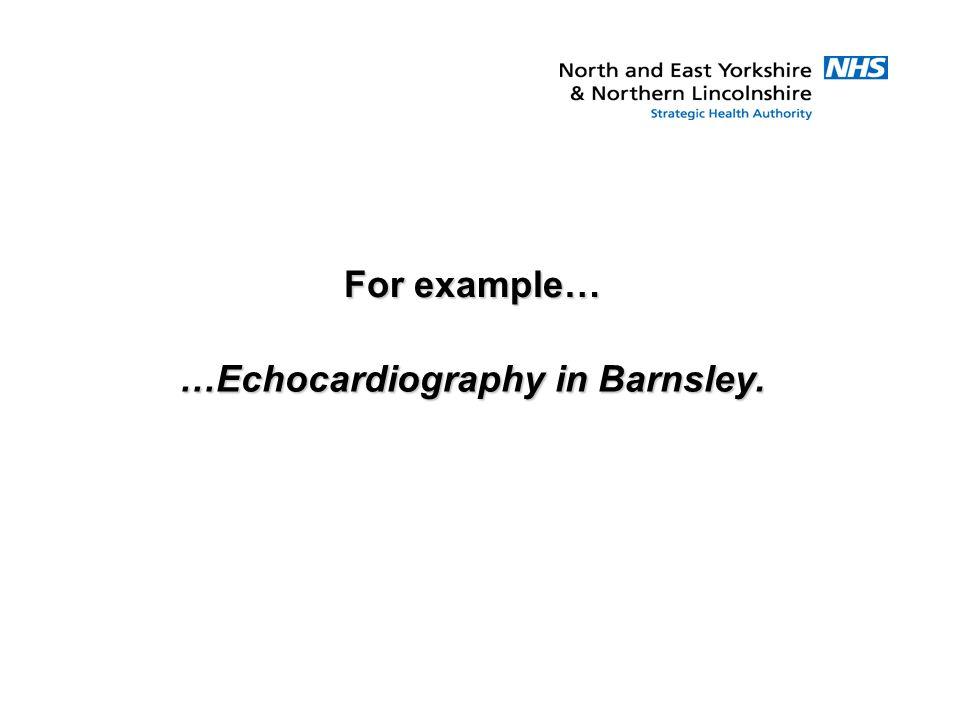 …Echocardiography in Barnsley.