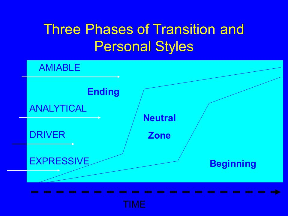 Three Phases of Transition and Personal Styles