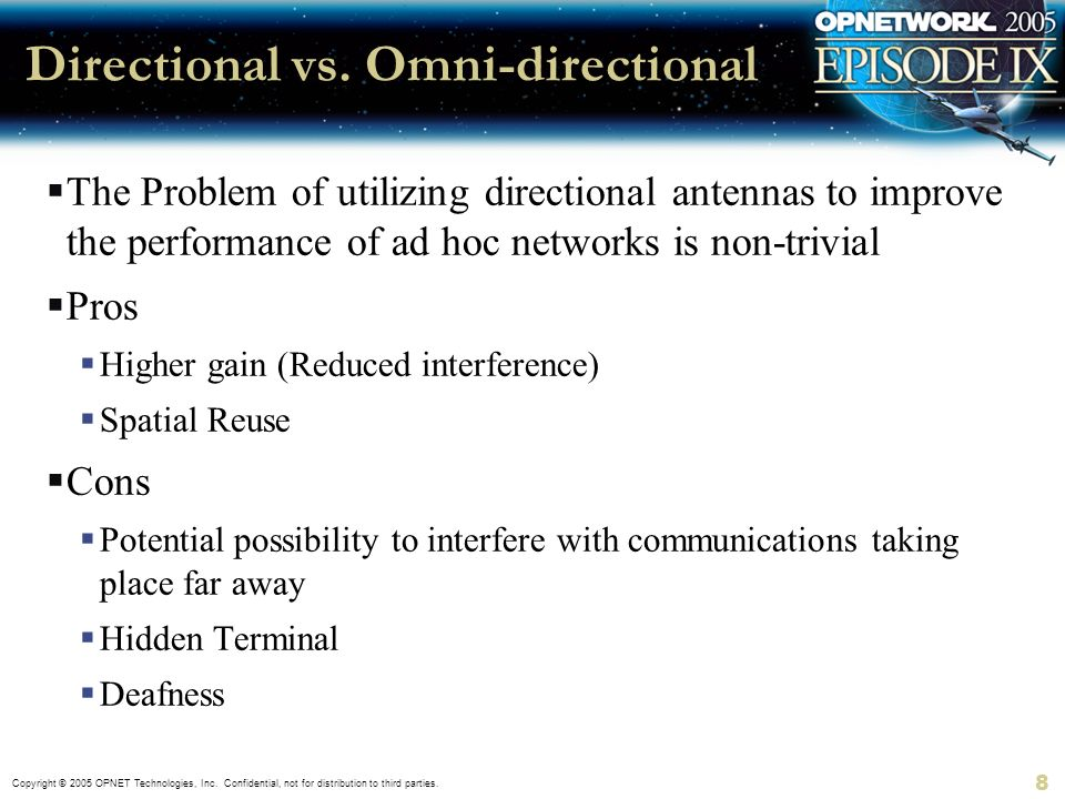 Directional vs. Omni-directional