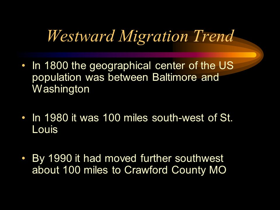 Westward Migration Trend