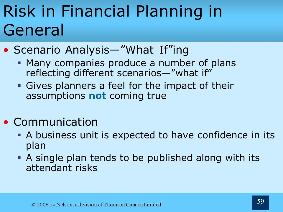 financial risk analysis business plan