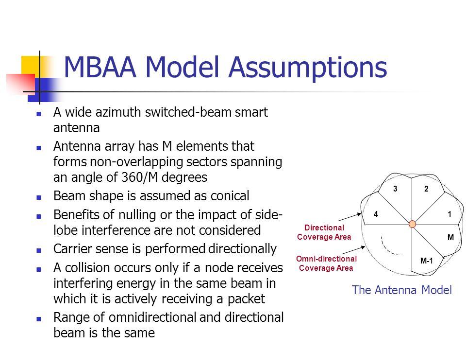 MBAA Model Assumptions