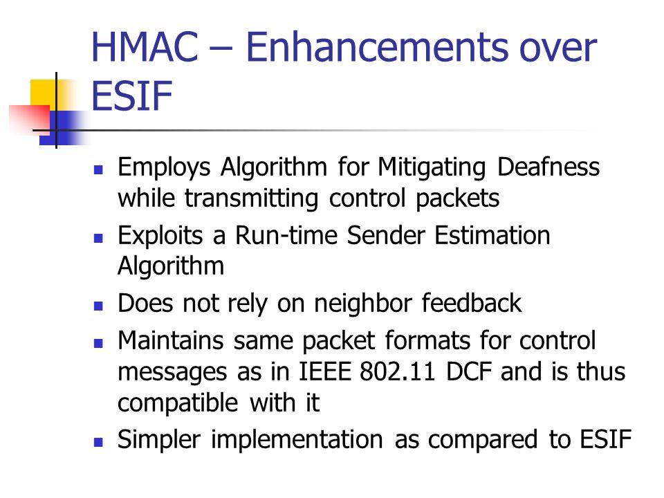 HMAC – Enhancements over ESIF