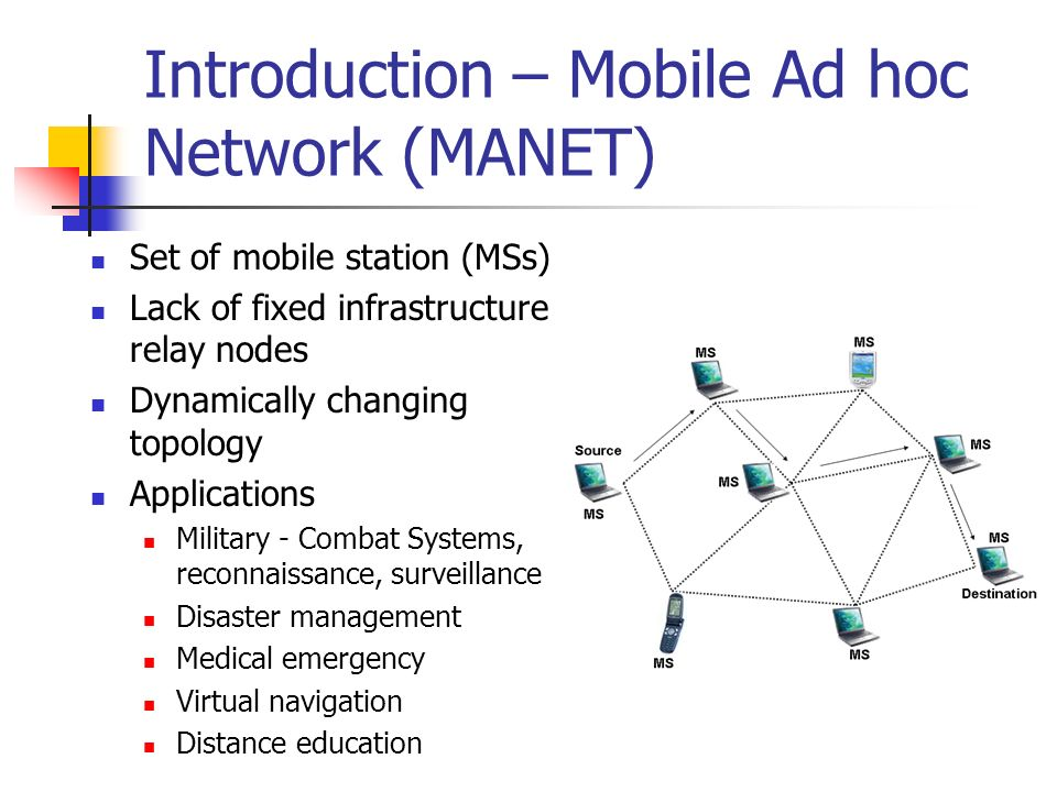 Introduction – Mobile Ad hoc Network (MANET)