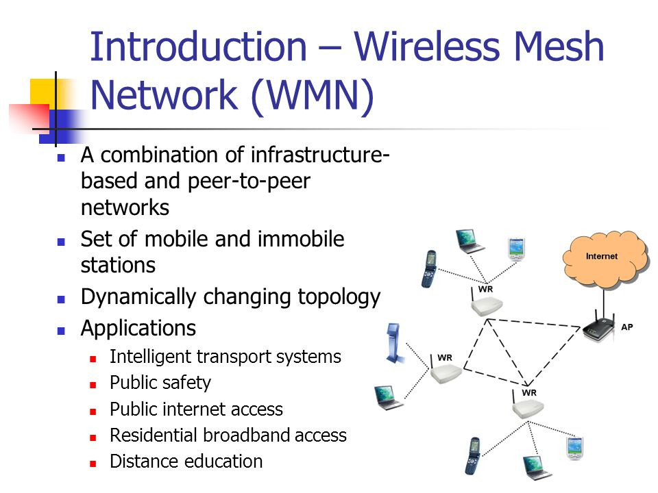 Introduction – Wireless Mesh Network (WMN)