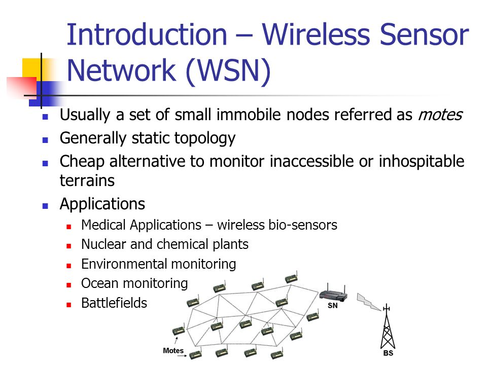 Introduction – Wireless Sensor Network (WSN)