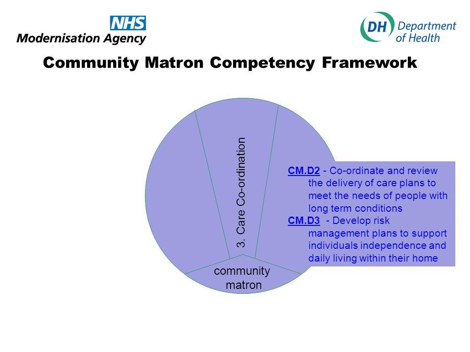 Community Matron Competency Framework