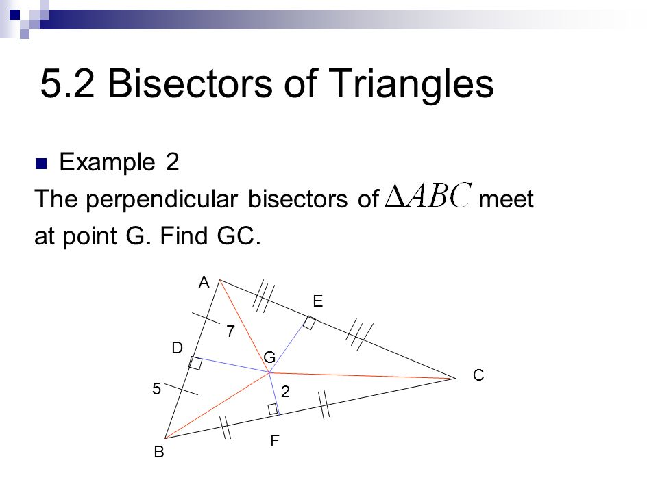 perpendicular bisectors of a triangle meet