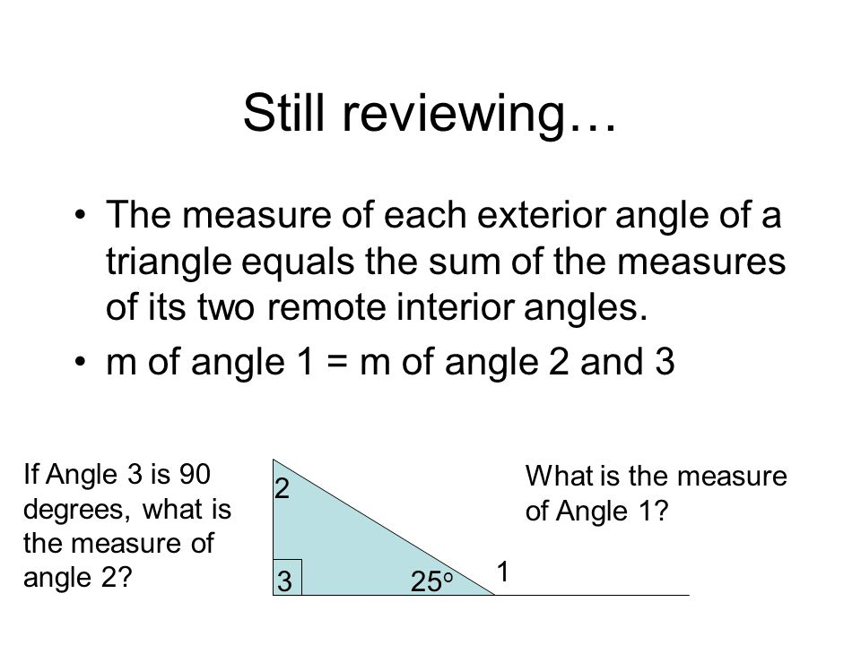 Unit 8 triangles this unit continues with triangles - Sum of the exterior angles of a triangle ...