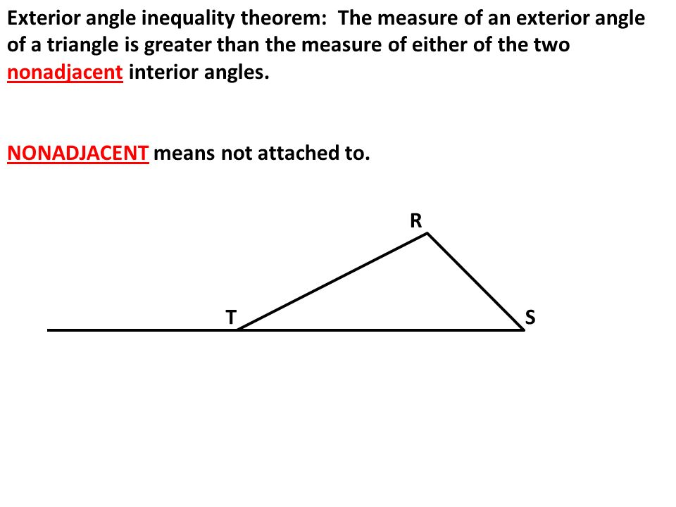 Chapter 5 notes ppt video online download for Exterior angle theorem