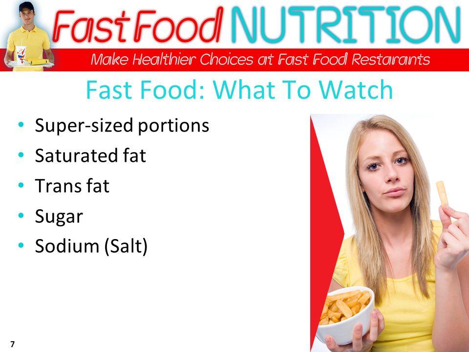 Trans Fat Free Fast Food Restaurants