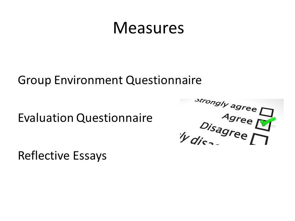 group evaluation essay 3 fellenz2 describes the use of a mathematical formula to derive marks from peer evaluation as a way of enhancing reliability of peer evaluation the group work peer evaluation protocol2(p573) is a method in which each group member submits a quantitative evaluation of their group members relative contribution.