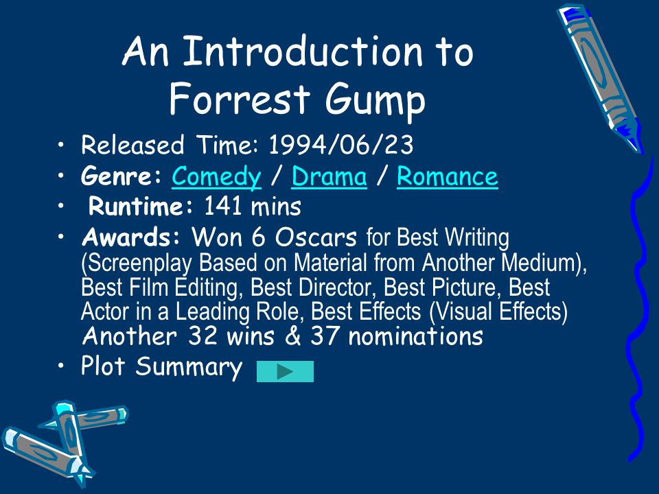 forrest gump introduction essay Response on the film forrest gump (essay sample) instructions: reading response #3: forrest gump  while forrest gump (1994) narrates the life story extraordinary of.