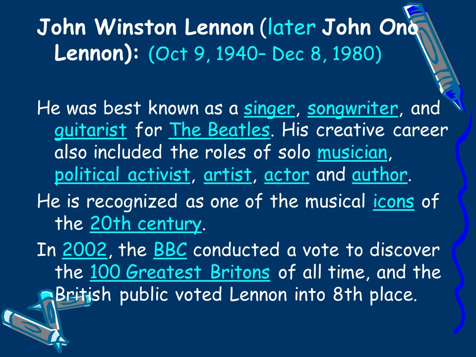 an introduction to the life of john winston lennon If you are searched for a ebook john lennon: a celebration of his life and legacy in pdf form, then you have come on to the right website we furnish the utter.