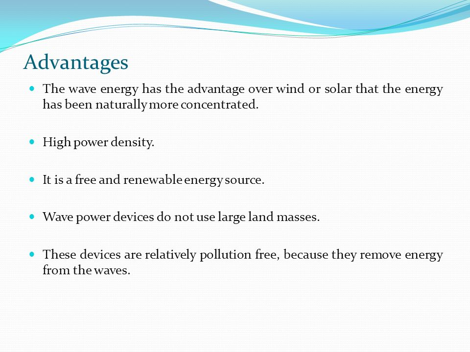 wave power advantages and disadvantages pdf