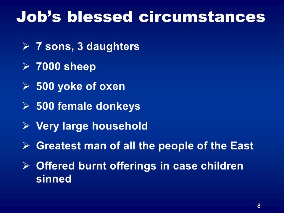 Job's blessed circumstances