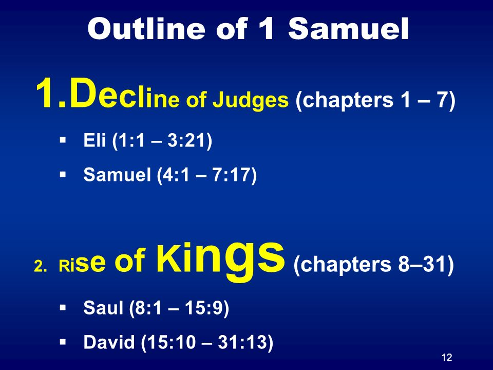 Decline of Judges (chapters 1 – 7)