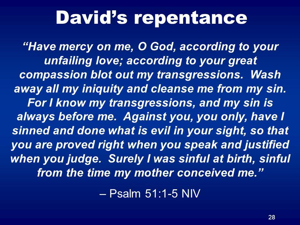 David's repentance