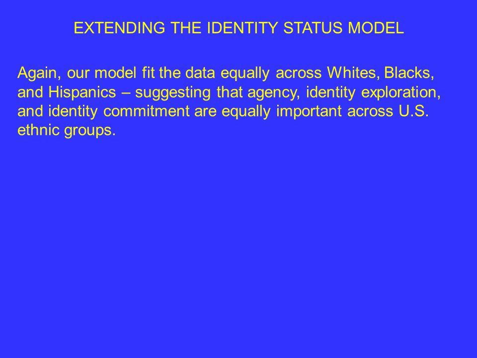 EXTENDING THE IDENTITY STATUS MODEL