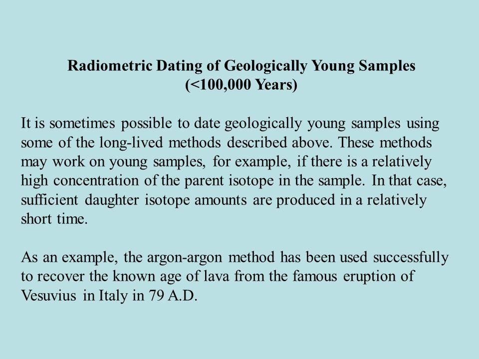 Radiometric dating examples