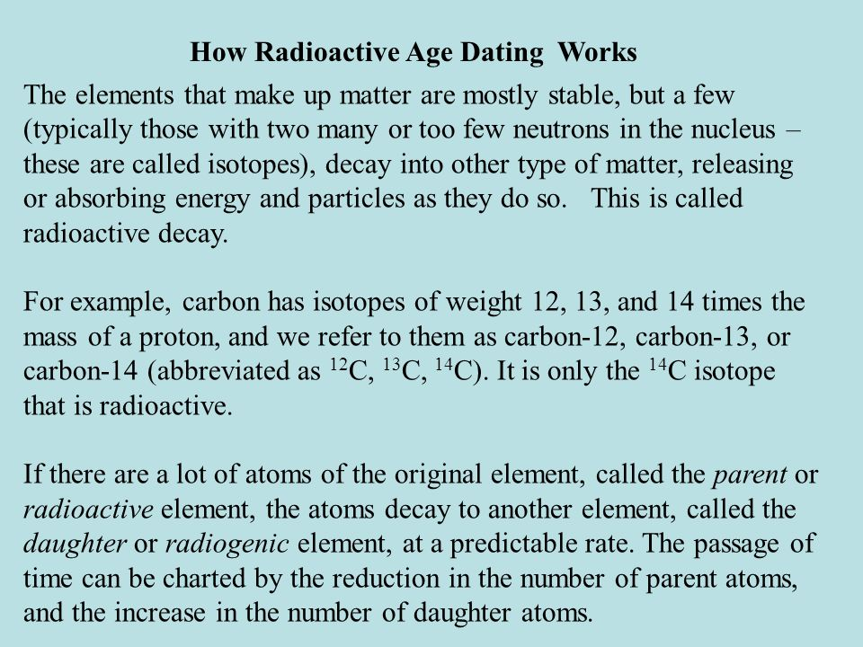How radiocarbon dating works