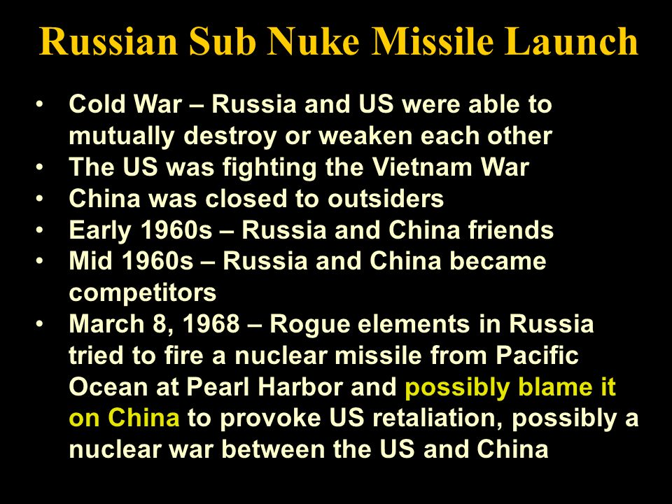 Russian Sub Nuke Missile Launch
