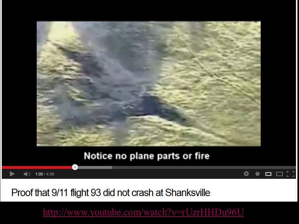Flight 94 didn't crash http://www.youtube.com/watch v=rUzrHHDu96U