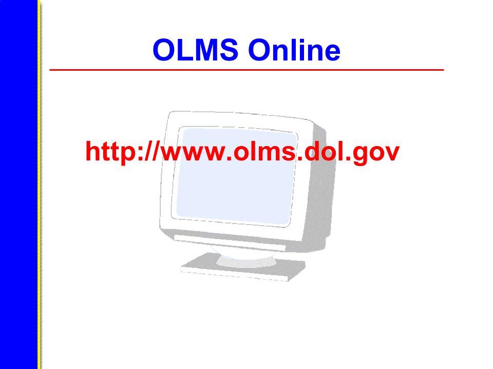 OLMS Online http://www.olms.dol.gov