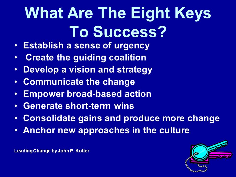What Are The Eight Keys To Success