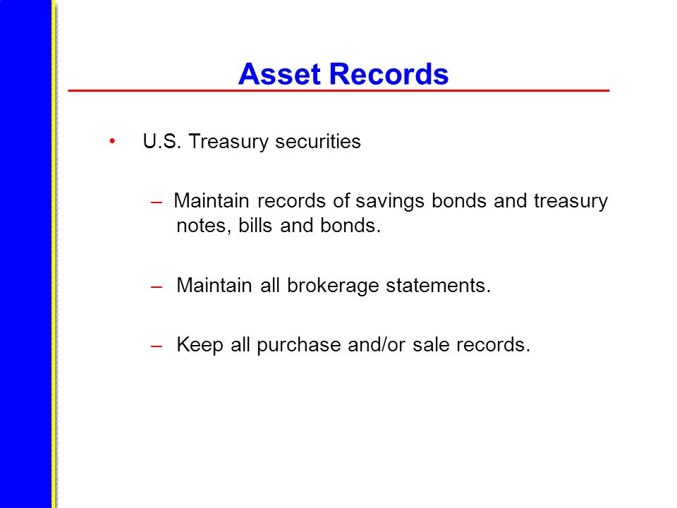 Asset Records U.S. Treasury securities