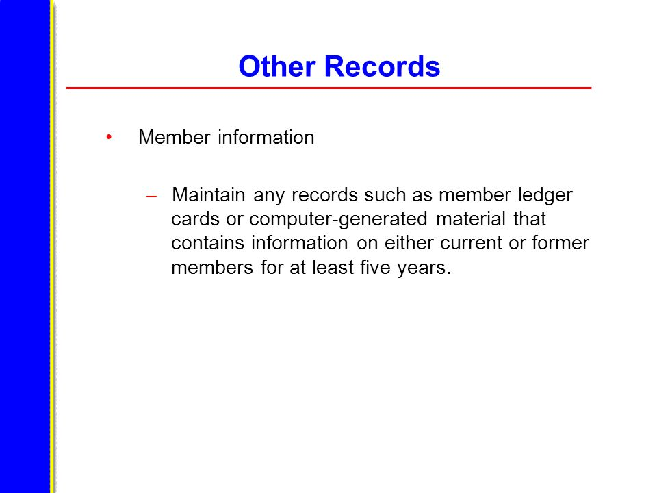 Other Records Member information