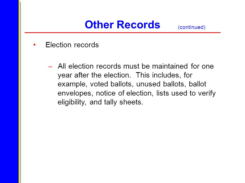 Other Records Election records