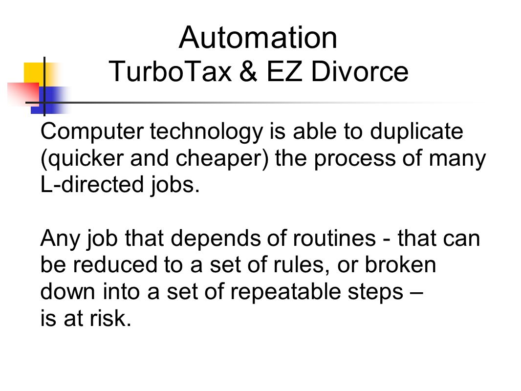 Automation TurboTax & EZ Divorce