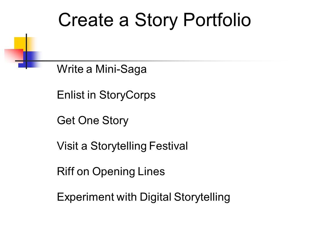 Create a Story Portfolio